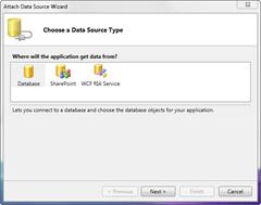 Choose DataSource